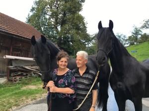 Brigitte und Bruno mit Pferden 2